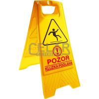 POZOR kluzká podlaha - výstražný stojan - tabule