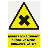 Nebez.zdraví škodl.nebo drážd.látky 297x210mm - plast