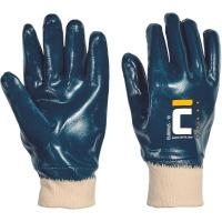 DUBIUS rukavice celomáčené nitril modré