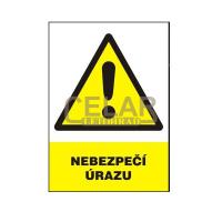 Nebezpečí úrazu 148x210mm - samolepka