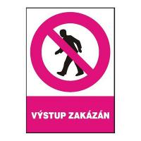 Výstup zakázán 210 x 297 mm - plast