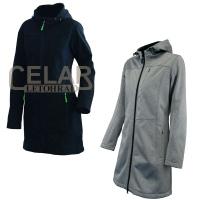 0707 Bunda dámská softshell dlouhá - kabát