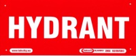 HYDRANT (nápis) 210x87mm - plast