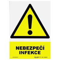 Nebezpečí infekce 297x210mm - plast