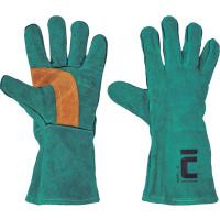 HARPY rukavice svářečské-A zelené 35cm - 11
