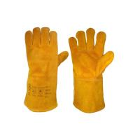WELD  rukavice svářečské žluté 35cm - 11