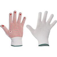 GANNET rukavice plet.nylonové s PVC terčíky