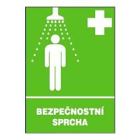 Bezpečnostní sprcha 297x210mm - plast