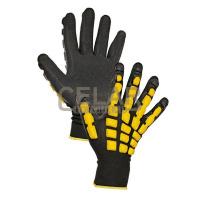 ACCENTOR rukavice latex ochrana hřbetu - 10