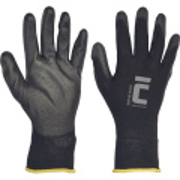 BUNTING BLACK ruk.nylon dlaň+prsty polyuretan