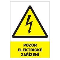 Pozor elektrické zařízení 210x150 mm - samolepka