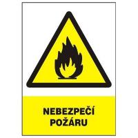 Nebezpečí požáru 210x297mm - samolepka