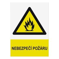 Nebezpečí požáru 297x210mm - plast