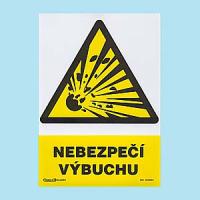 Nebezpečí výbuchu 210x297 mm - plast