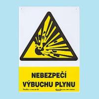 Nebezpečí výbuchu plynu 210x297 mm - plast