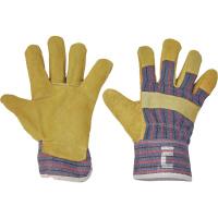 TERN rukavice kombinované z hovězí štípenky žluté