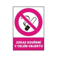 Zákaz kouření v celém objektu 210x297mm - samolepka