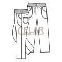 (2416) SOFIE 100%BA kalhoty D elast.pas