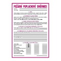 Požární poplachové směrnice 210x297mm - samolepka