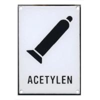 ACETYLEN 210x149mm - smaltovaná tabulka