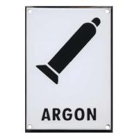 ARGON 210x149mm - smaltovaná tabulka