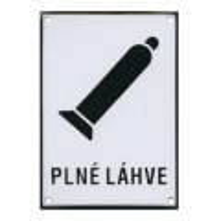 PLNÉ LÁHVE 210x149mm - smaltovaná tabulka