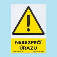 Nebezpečí úrazu 210x297mm - plast