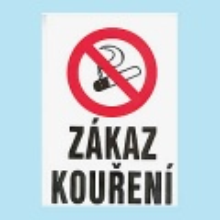 Zákaz kouření 210x300mm - plast